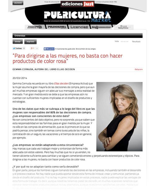 Gemma Cernuda en Puericultura Market
